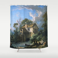 Mill at Charenton Shower Curtain by ArtMasters