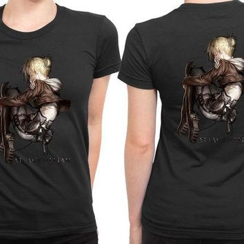 DCCKL83 Attack On Titan Shingeki No Kyojin Annie 2 Sided Womens T Shirt