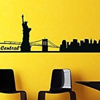 Wall Decal Vinyl Sticker Decals Art Decor Design New York NY Central Sign Words Letters New City Town Capital One Love Dorm Bedroom (r343)