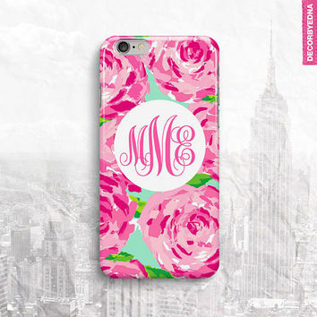 Lilly Pulitzer Inspired First Rose Iimpression iPhone 6 Case, iPhone 5 Cover, iPhone 4 Cover, iPhone 6S Cover