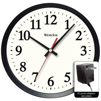 """Westclox 14"""" Round Electric Powered Office Wall Clock NYL32189A"""