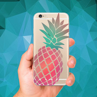Phone Case Summer fruit pineapple watermelon banana lemon series Soft TPU Gel Case Cover for iPhone 6 6S 6plus 6splus 5 5S SE