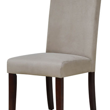 Emporia Beige Microfiber Dining Chair (Set of 2)