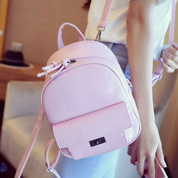 LEFTSIDE Back Pack Women PU Leather Backpack For School Teens Girls Bags Cool  Small Bag Pack Women Multifunction Crossbody Bag
