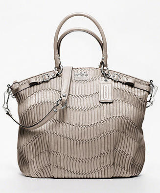 COACH MADISON GATHERED LEATHER LINDSEY SATCHEL - Madison Collection - COACH - Macy's