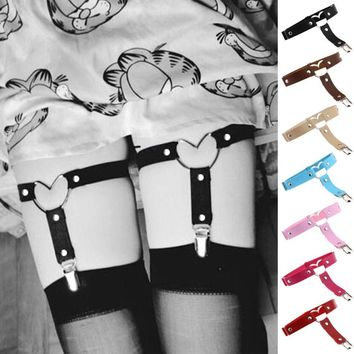 Sexy Fashion Heart Leg Chain Punk Garters Belt Punk Night Club Jewelry