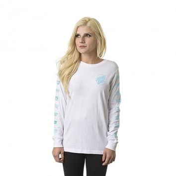 Multi Cruz Boyfriend L/S Santa Cruz Womens T-Shirt
