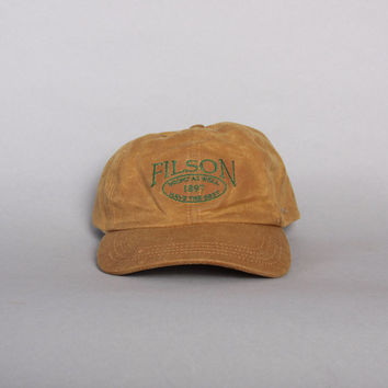 Vintage FILSON Basball HAT / Tin Cloth Embroidered Logo Hunting Fishing CAP