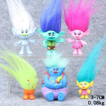 Trolls Poppy Movie Anime Action Figure Collectible Dolls Poppy Branch Biggie  Toys