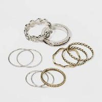 Open Work and Thin Delicate Ring Set 10ct - Universal Thread™