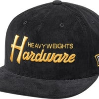 Diamond Hardware Hat Adjustible Black/ Gold Snapback