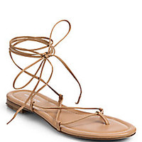 Michael Kors - Bradshaw Lace-Up Leather Sandals <br> - Saks Fifth Avenue Mobile
