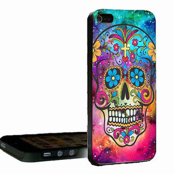 sugar skull crackout customized for iphone 4/4s/5/5s/5c ,samsung galaxy s3/s4/s5 and ipod 4/5 cases