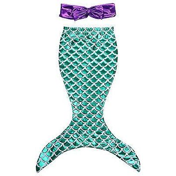 girls clothes summer dress Children Baby Girls the Little Mermaid Tail Bikini Suit Swim Costume