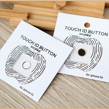 1pcs Aluminum Touch ID Home Button Sticker for apple iphone 5s se 6 6s plus 7 7 plus with Fingerprint Identification Function