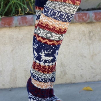 Under The Mistletoe Socks - Navy