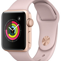 Apple Watch Series 3 (GPS), 38mm Gold Aluminum Case with Pink Sand Sport Band | macys.com