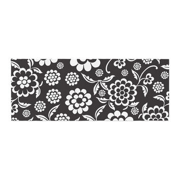 """Nicole Ketchum """"Cherry Floral Black"""" Bed Runner"""