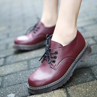 Shoes Woman Oxford Shoes 2016 Autumn Fall Women Oxford Flats Shoes Vintage Round Toe Women Flats England Style Chaussure Femmer