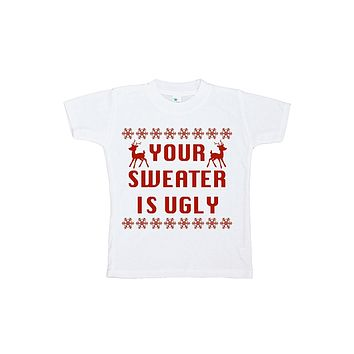 Custom Party Shop Unisex Baby Your Sweater is Ugly Christmas Onepiece