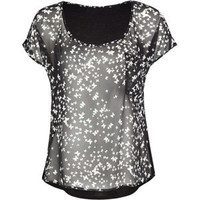 FULL TILT Butterfly Hi Low Womens Top 192713100 | tops | Tillys.com