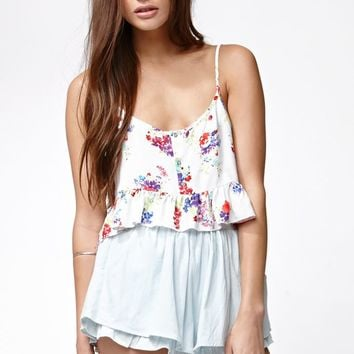 Some Days Lovin Sweet Delilah Floral Print Cami Tank Top - Womens Shirts - Multi