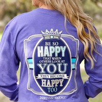 Jadelynn Brooke Be So Happy - Purple Long Sleeve