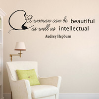 Wall Decals Audrey Hepburn Quote Decal  Woman Beauty Sayings Sticker Vinyl Decals Wall Decor Murals Z283