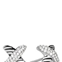 Women's David Yurman 'X' Earrings with Diamonds - Diamond