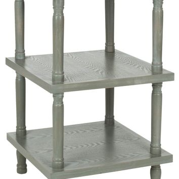 Esmeralda 3 Tier Side Table French Grey