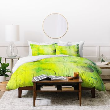 Sophia Buddenhagen Dream Yellow Duvet Cover