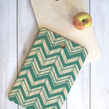 Heather Dutton Weathered Chevron Cutting Board Rectangle