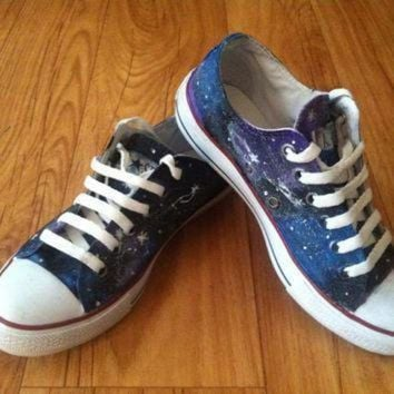 CREYON galaxy converse shoes by denimtrend on etsy
