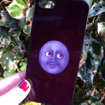 Iphone 5 5S Phone Case Emoji Moon Face Print Hipster Phone Cover