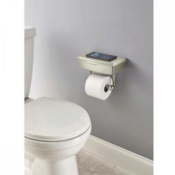 Delta Porter Brushed Nickel Toilet Paper Holder With Storage Box OT404