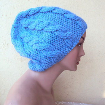 Hand Knit Slouchy Hat Beanie Oversized Chunky Hat Women's Winter Accessories Gift Ideas