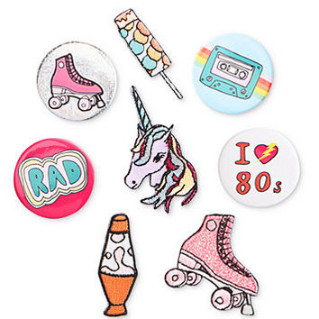 twelveNYC Juniors' '80's Pins & Patches Collection with Box | macys.com