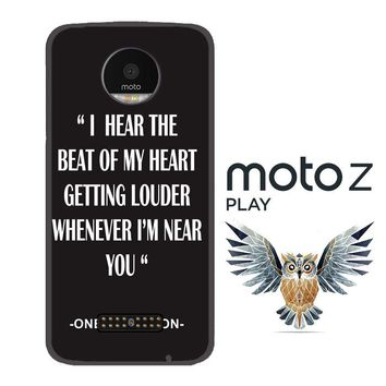 One Direction Lyrics R0263 Motorola Moto Z Play Case
