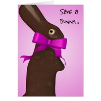 Save A Bunny Easter Card