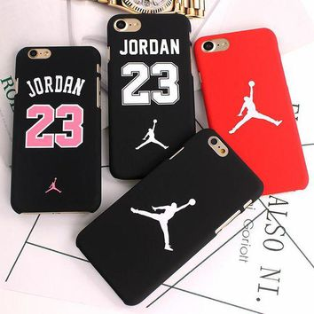 ONETOW Fashion Slim Matte Case For iPhone 7 6 6S Matte Cartoon Hard Plastic Back Cover Jordan