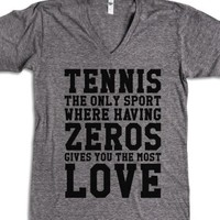 Tennis Love-Unisex Athletic Grey T-Shirt
