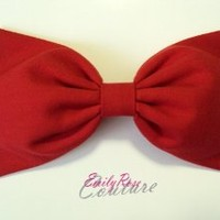 Solid Red Jewel Tone Essentials Hair Bow Barrette