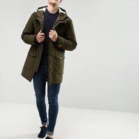 Esprit Fish Tail Parka With Teddy Lined Hood at asos.com