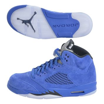 Jordan Men's Air 5 Retro, Game Royal/Black