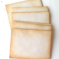 Coffee Stained Envelopes Vintage Style Junk Journals Scrapbooks Party Favors Halloween Paper Crafts Grunge Rustic Primitive