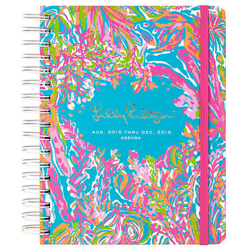 Lilly Pulitzer 2015-16 Large 17-Month Scuba to Cuba Spiral Agenda | Dillards