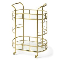Better Homes & Gardens Fitzgerald 2-Tier Serving Cart, Gold - Walmart.com