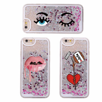 Glitter Liquid Sparkle Eyes Kylie Jenner Lips Nutella Chocolate Hard iPhone Case