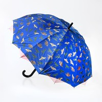 Blue Age of the Dinosaur Automatic Umbrella
