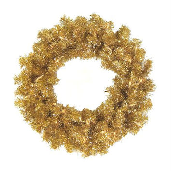 "Artificial Christmas Wreath - 36 ""  - Gold"